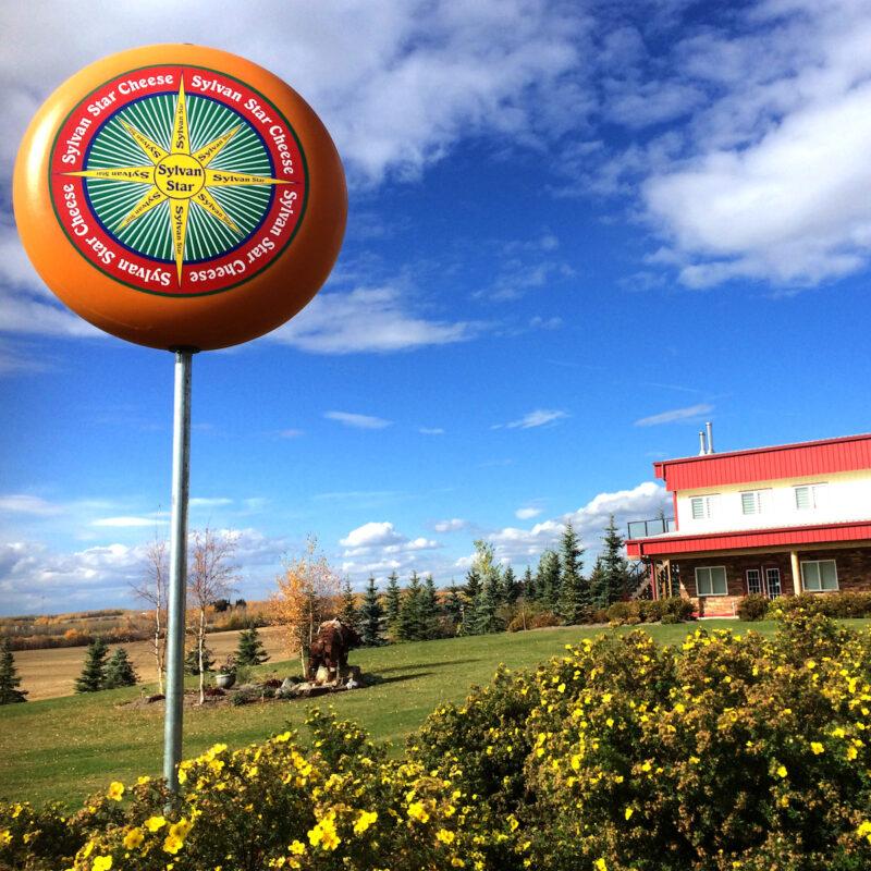 Sylvan Star Cheese sign and factory, Alberta, Canada.