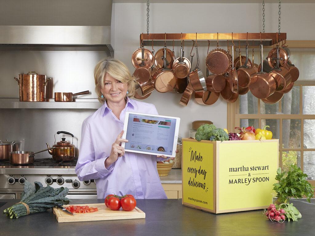 Martha Steward & Marley Spoon box