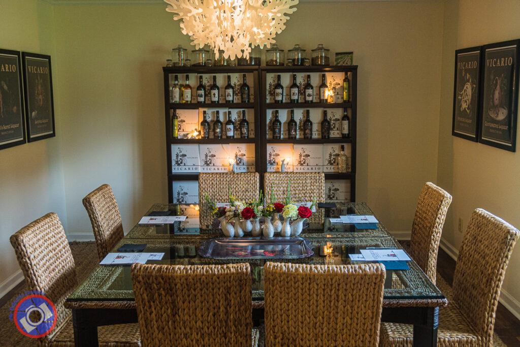 Tasting rooms at Vicario Spirits and Liqueur near Greenville, South Carolina.