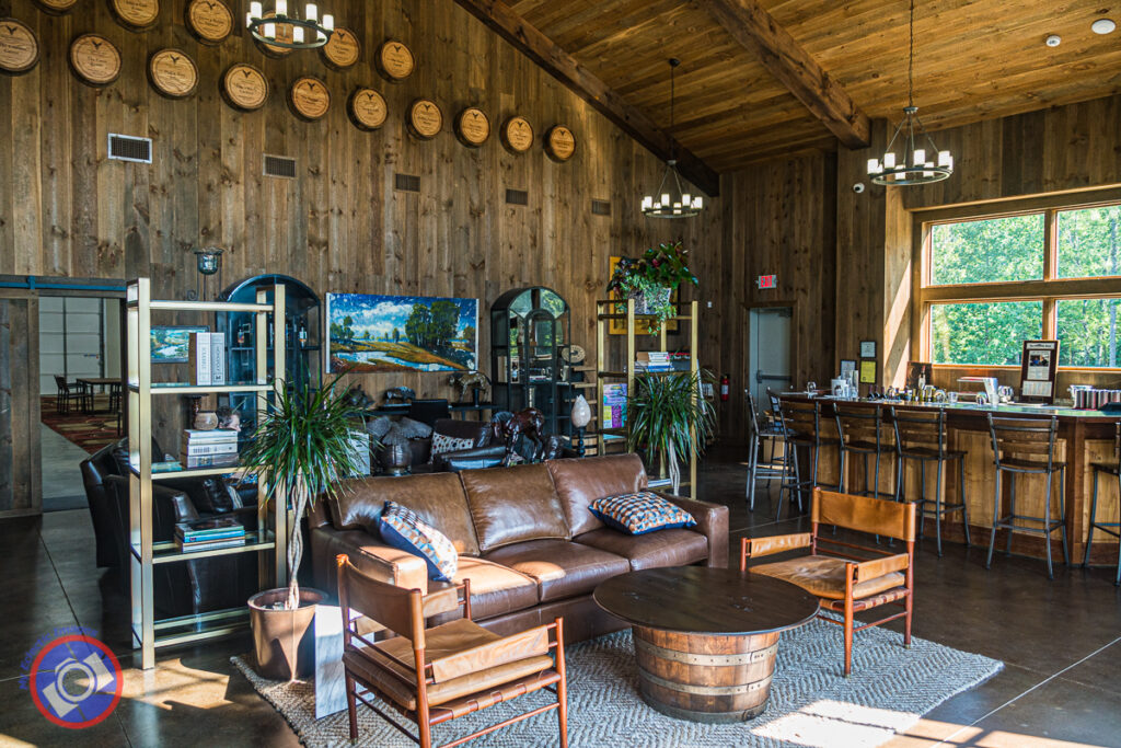 The Tasting Room at Eagle Mountain Vineyards and Winery near Greenville, South Carolina.
