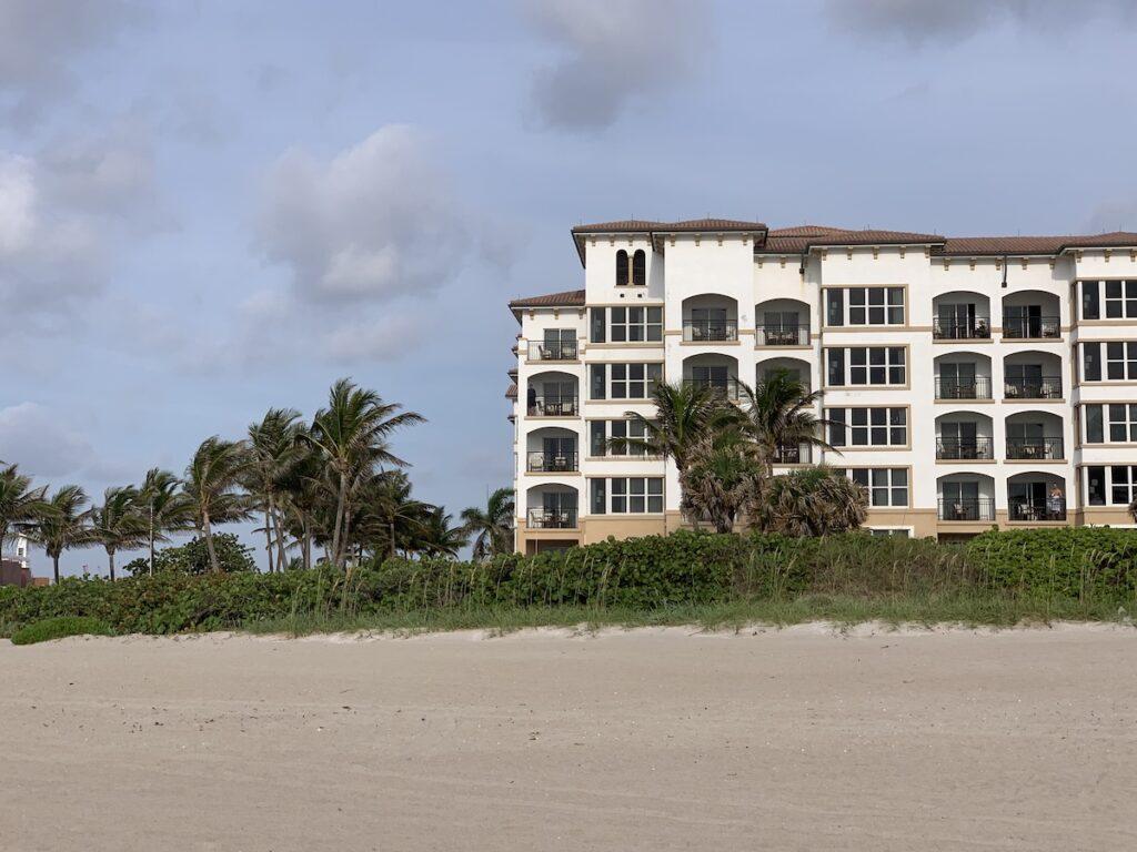 Resort on the beach in Singer Island, Florida.