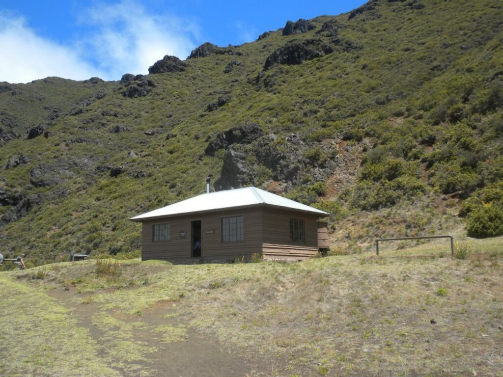 Kapalaoa Cabin, one of the three primitive cabins available in Haleakala National Park.