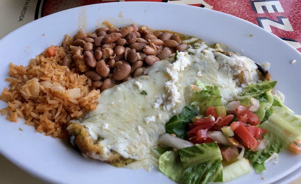 El Charro Cafe - chiles rellenos - Tucson