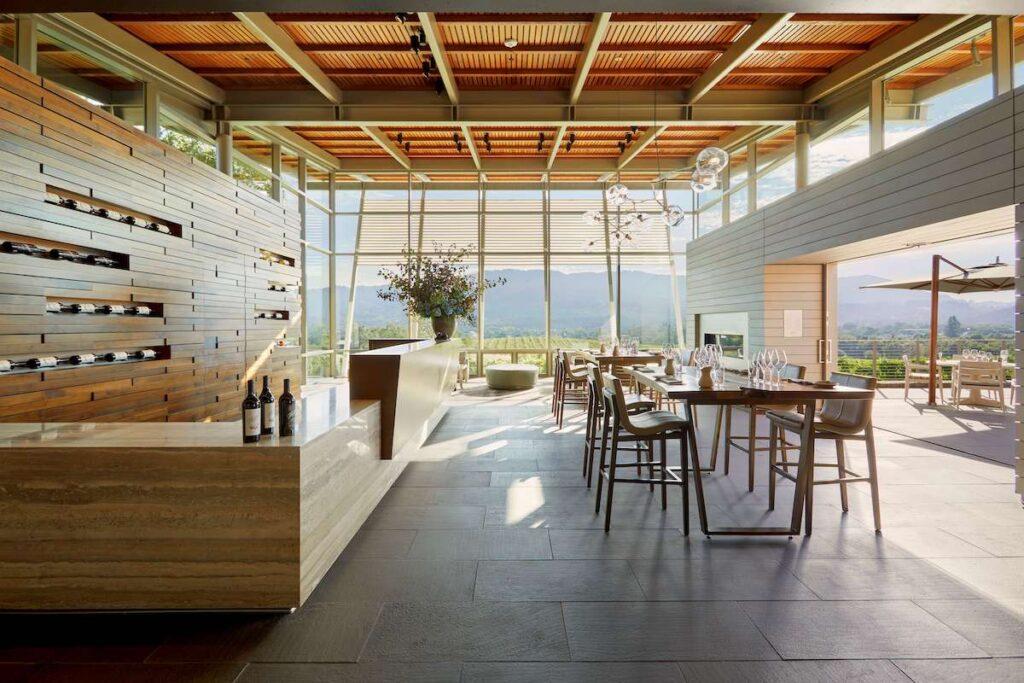 Scandinavian styled Wine tasting room, at Hamel Family Wines.