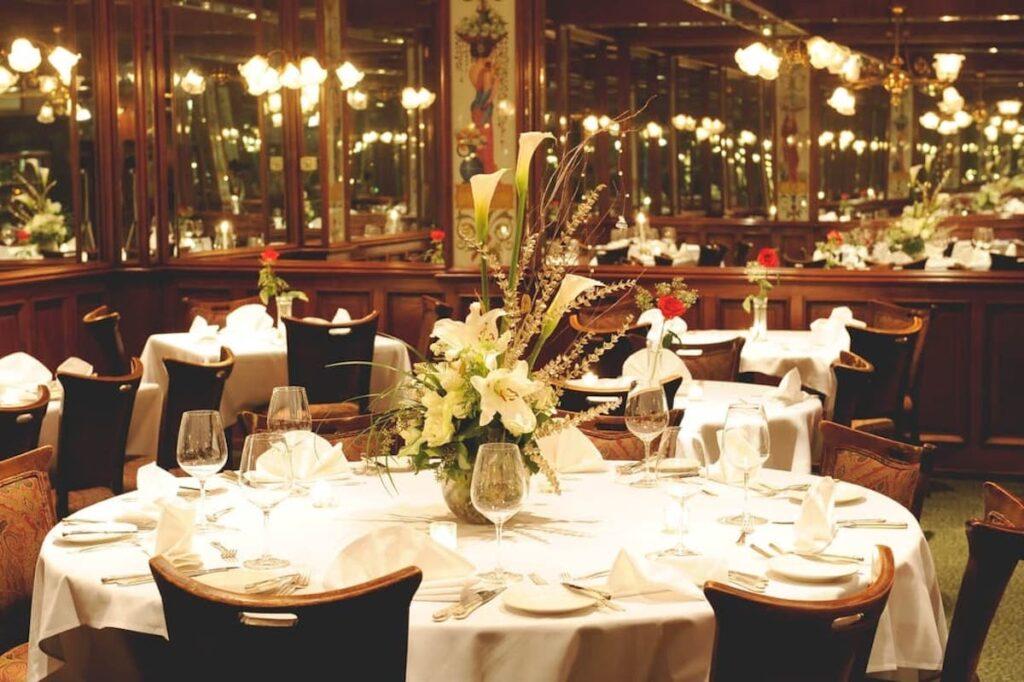 Dining Table at Vintage Press restaurant, Visalia.