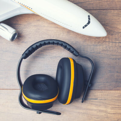 Hearing protection and plane