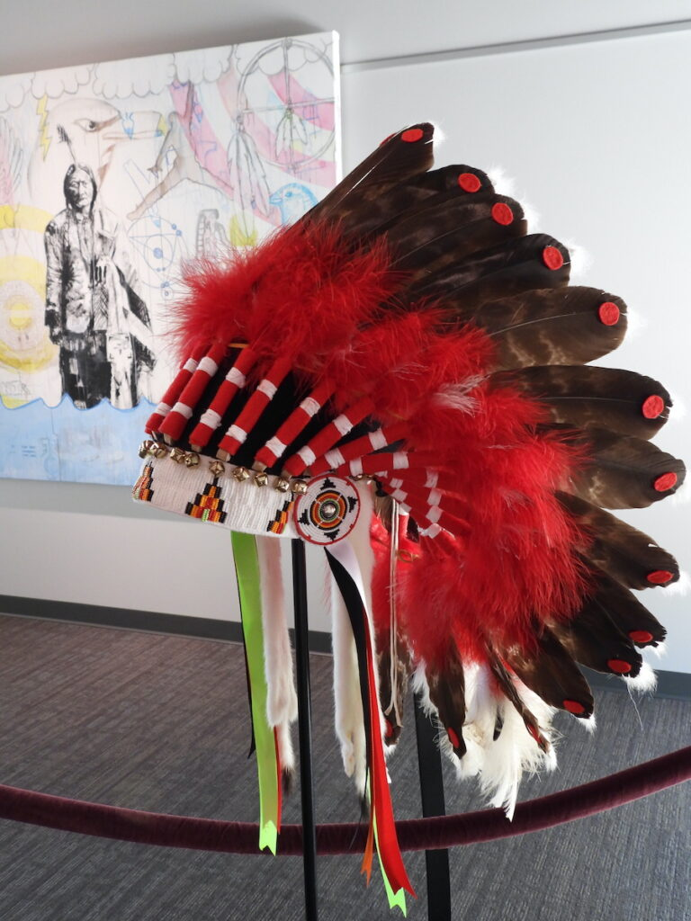 St. Joseph Mission alumni art display at Akta Lakota Museum