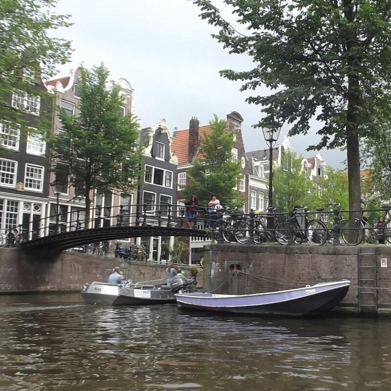 Bridge in Amsterdam, Netherlands.