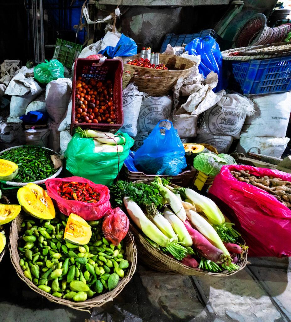 Food for sale at the Asan Market; Kathmandu, Nepal