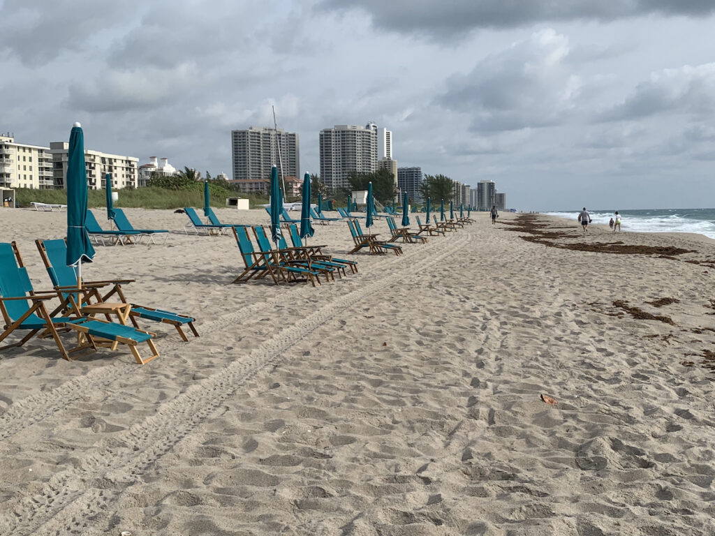 Beach chairs on Singer Island.