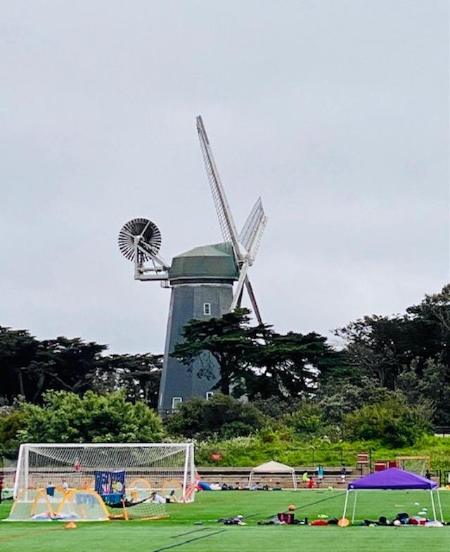 10. Murphy's Beach Cabin and Windmill football fields, Golden Gate Park.