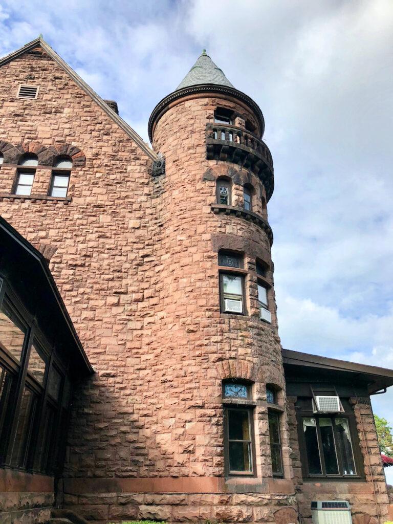 Belhurst Castle exterior; Geneva, New York