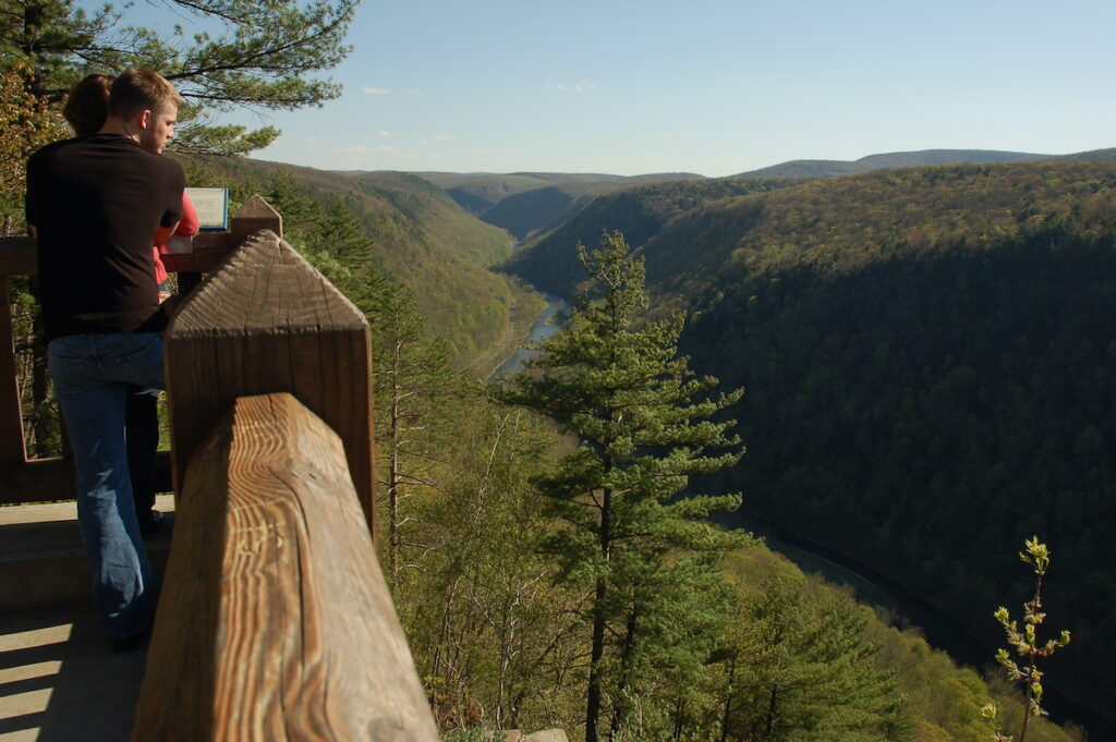 Leanard Harrison State Park Overlooking the PA Grand Canyon.