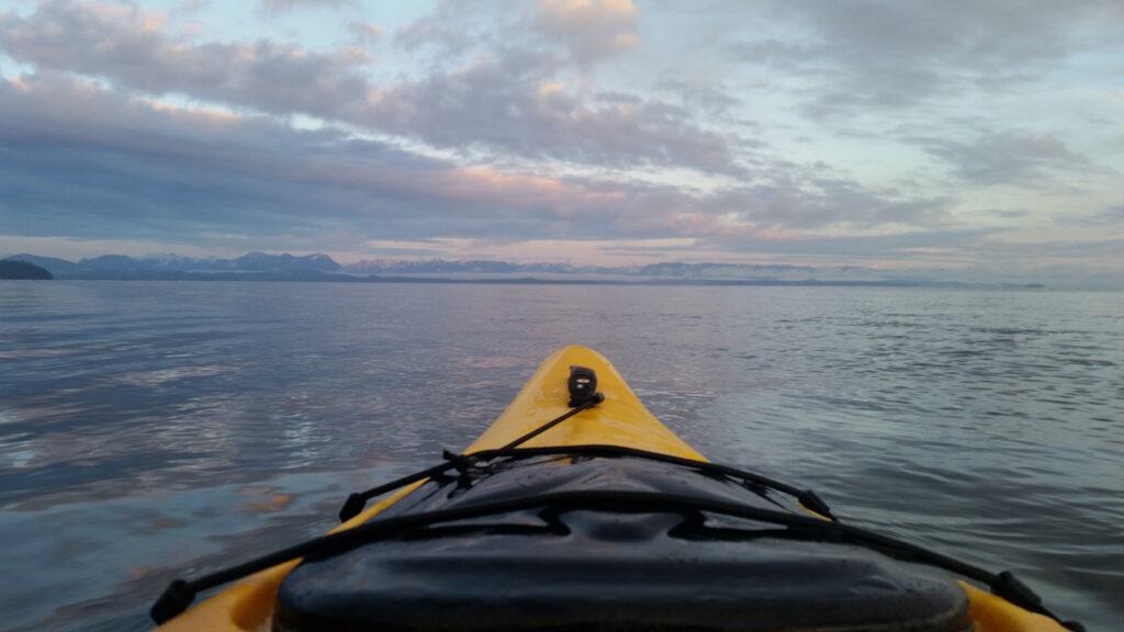 Kayaking near Campbell River, British Columbia