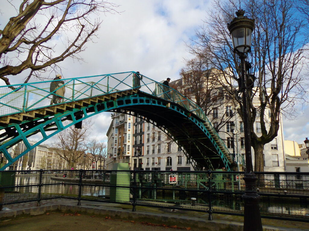Canal Saint-Martin in Paris, France