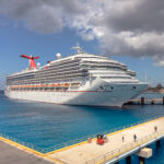 Carnival cruise ship at dock in Mexico