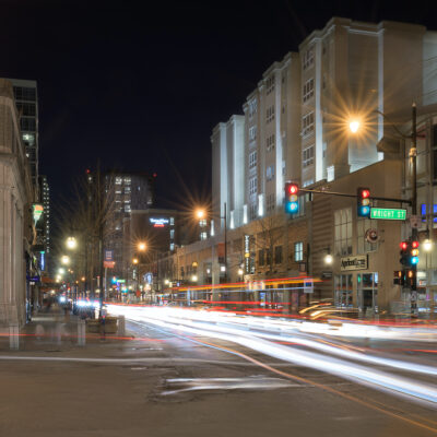 Busy intersection in Champaign, Illinois