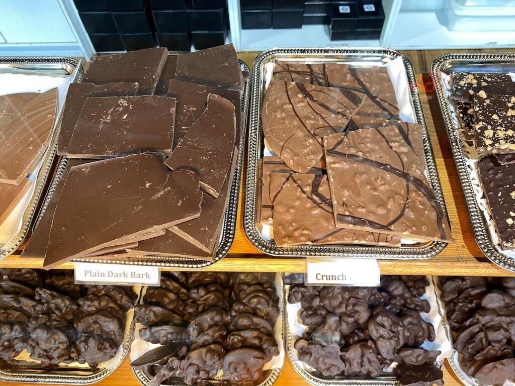 Chocolate bark at Chocolat in Fredericksburg