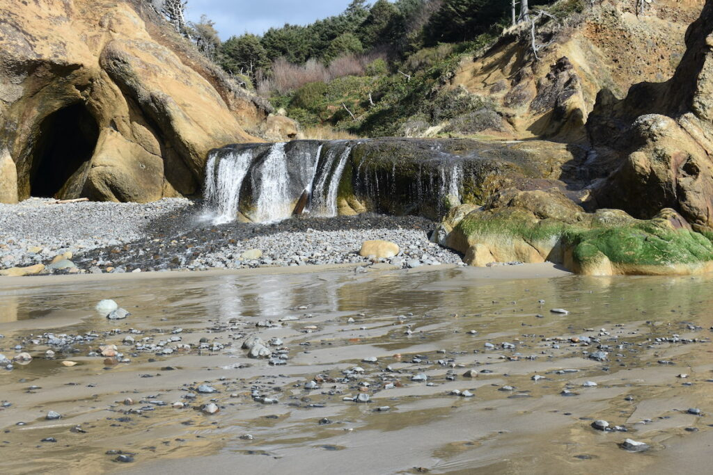 The Waterfall at Hug Point State Recreation Site