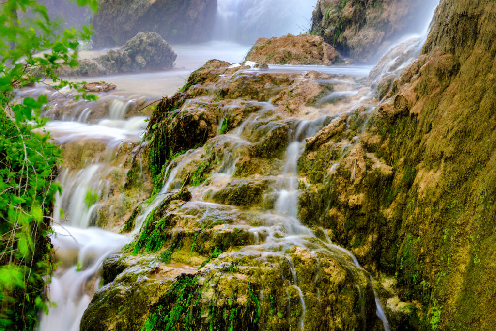 Gorman Falls at Colorado Bend State Park in Texas