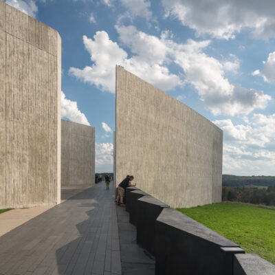 Visitor Center and viewing platform at the 911 memorial for Flight 93