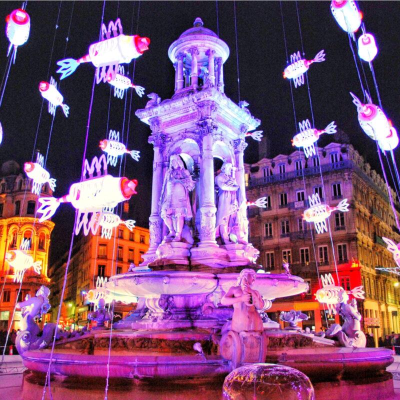 fête des lumières, jacobins square, Lyon, France