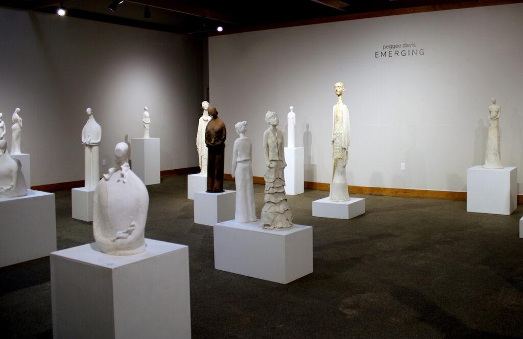 Current exhibition of Peggee Davis sculptures at Arts Visalia.