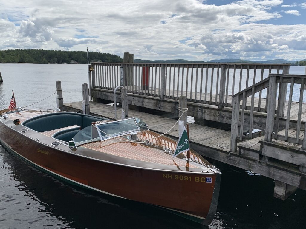Millie B boat parked at the dock.