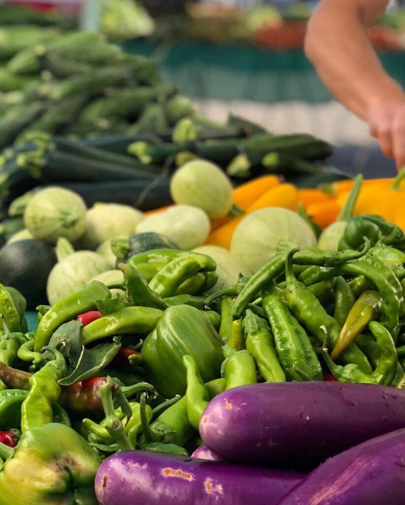 Vegetables sold at Visalia Farmers Market, Visalia.