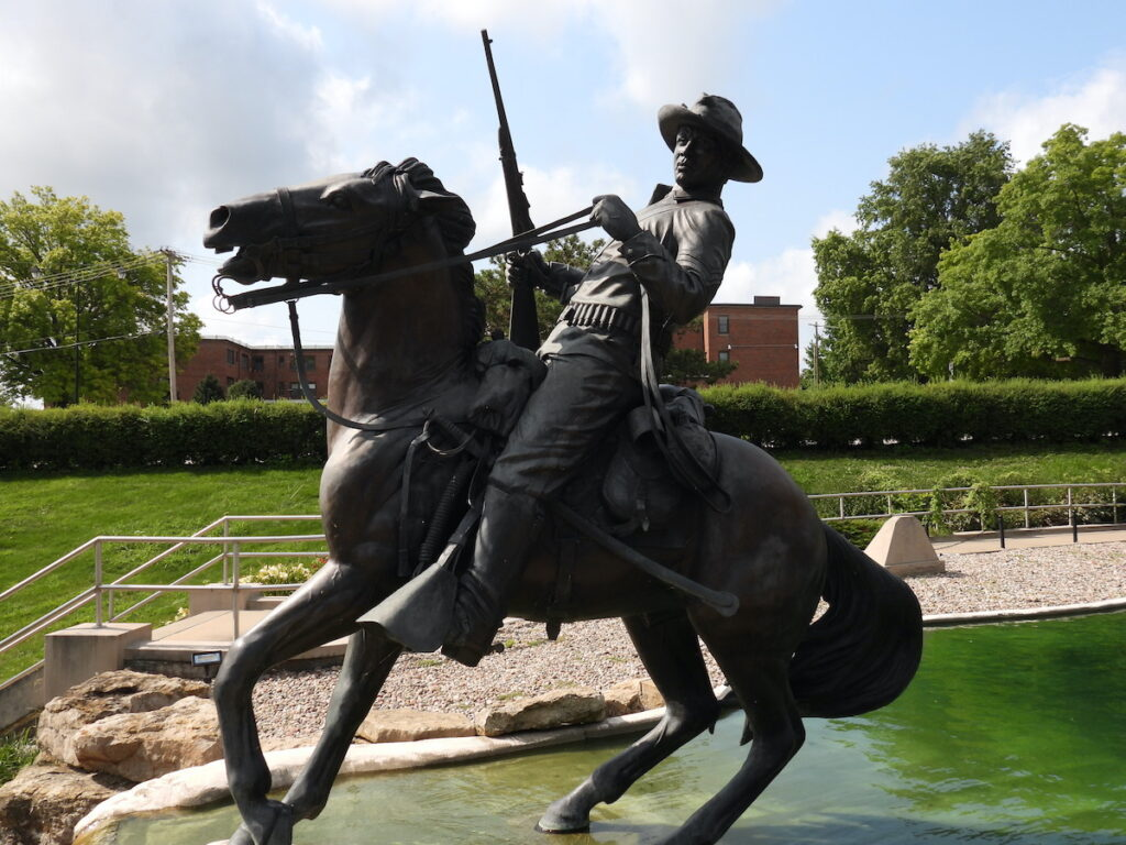 Buffalo Soldier Monument at Forth Leavenworth, Kansas.