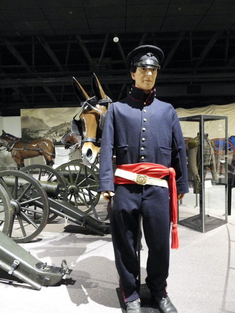 Dragoon exhibit at the Frontier History Museum in Leavenworth, Kansas.