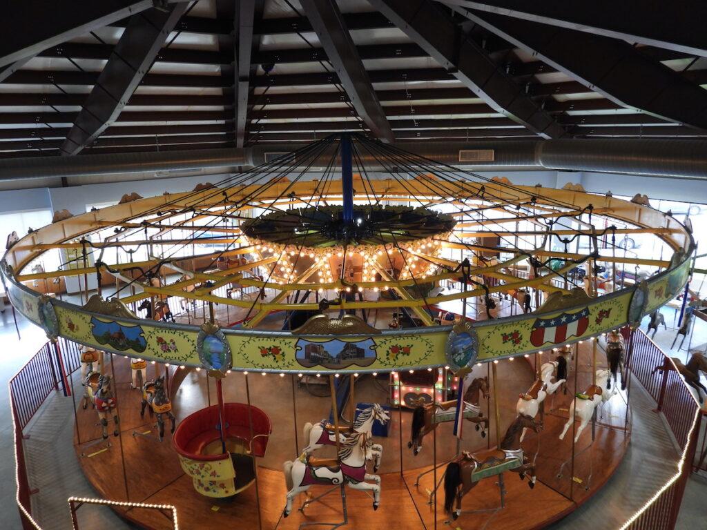 1913 carousel at C.W. Parker Carousel Museum, Leavenworth, Kansas.