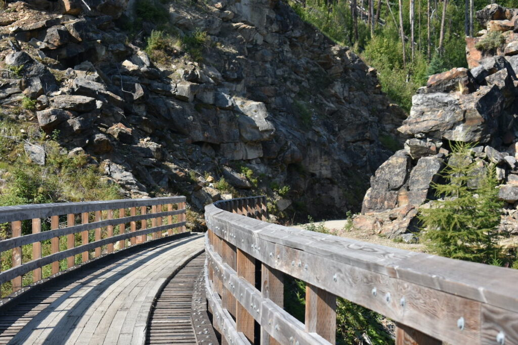 Myra Canyon Trestles at Naramata, British Columbia.