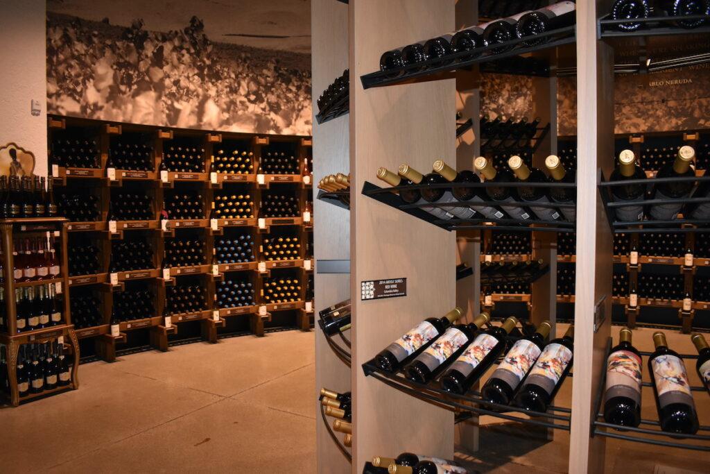 Wine cellar at Chateau Ste. Michelle.