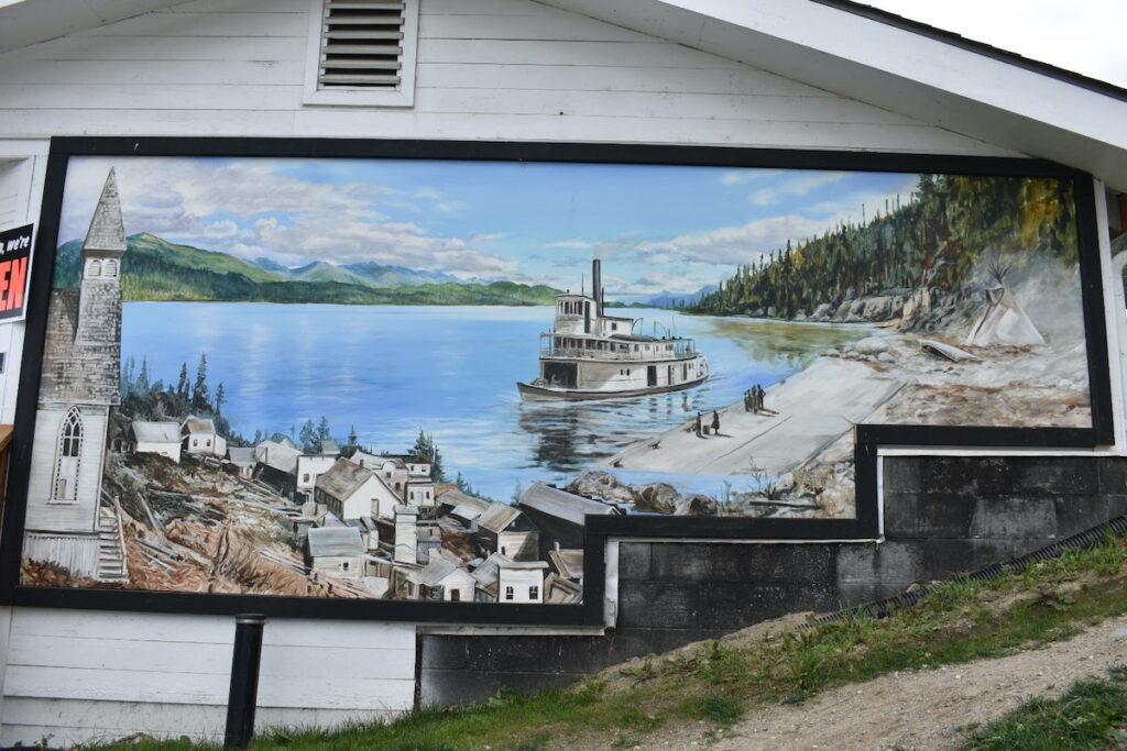 Mural at Ainsworth, British Columbia.