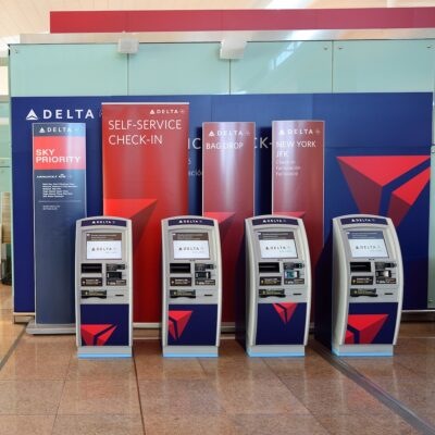 Delta Airlines check-in kiosks
