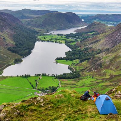 Camping at the Lake District in England
