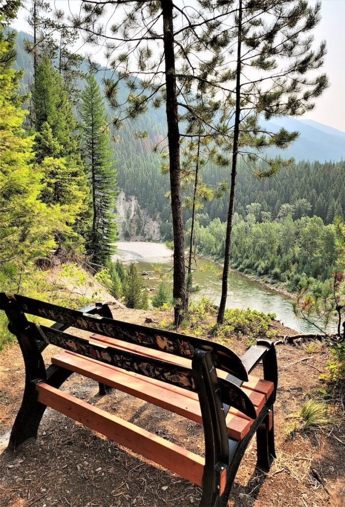 View of the Middle Fork of the Flathead River, Montana