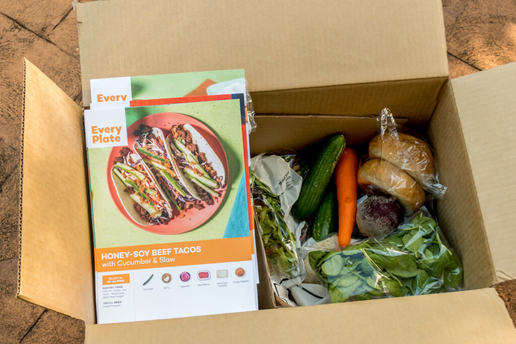 Everyplate subscription box and food