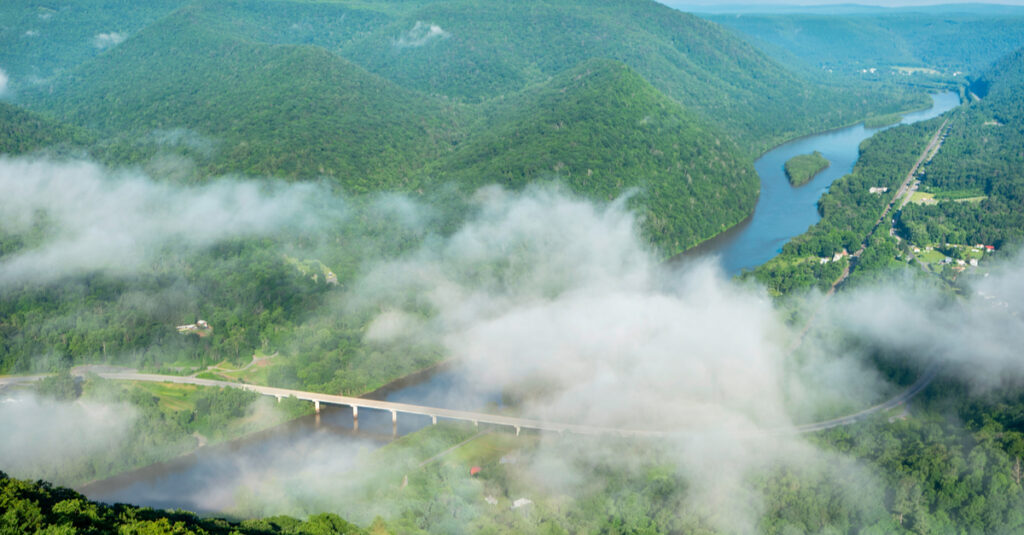 Hyner View Overlook of the Susquehanna River.