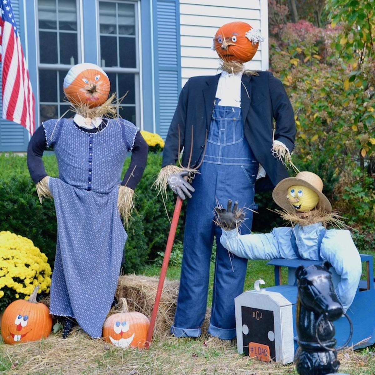 Farmer Scarecrows Branchville Scarecrow Contest