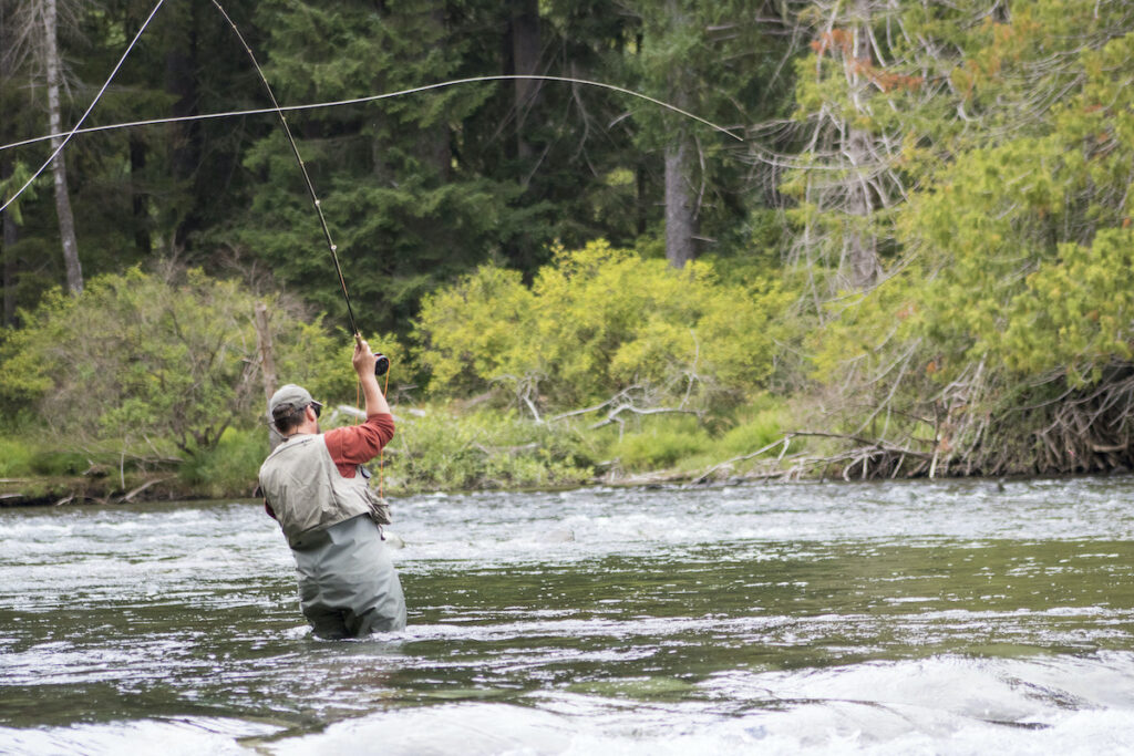 Fly fishing near Campbell River