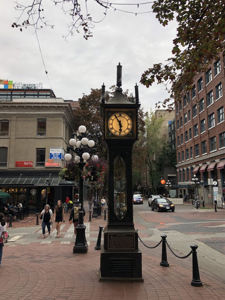 Gastown Steam Clock in Downtown Vancouver.