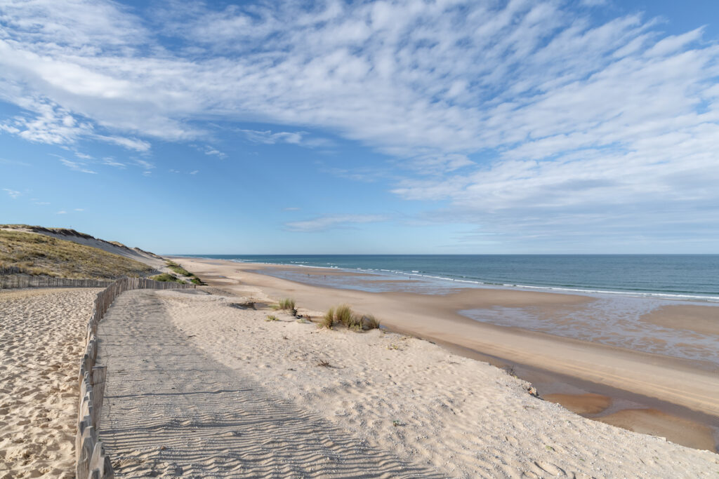 A beach near Montalivet in Gironde, France