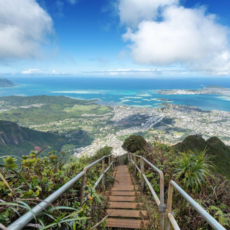 Haiku Stairs; Oahu, Hawaii