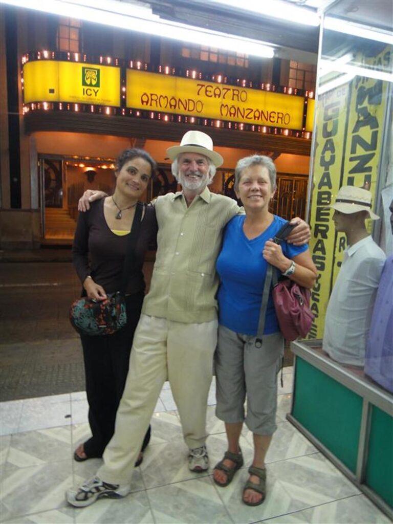 Walking around in Merida, Mexico.(Hannah, Berry & Louisa)