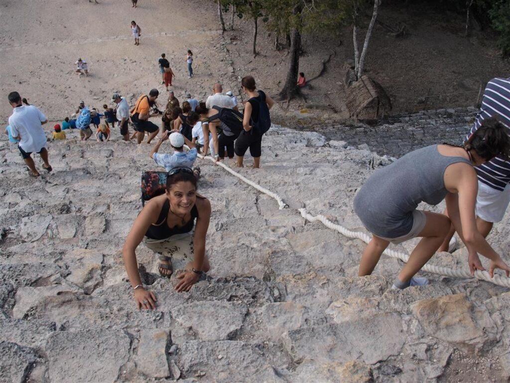 Hannah Climbing Coba, Yucatan, Mexico.