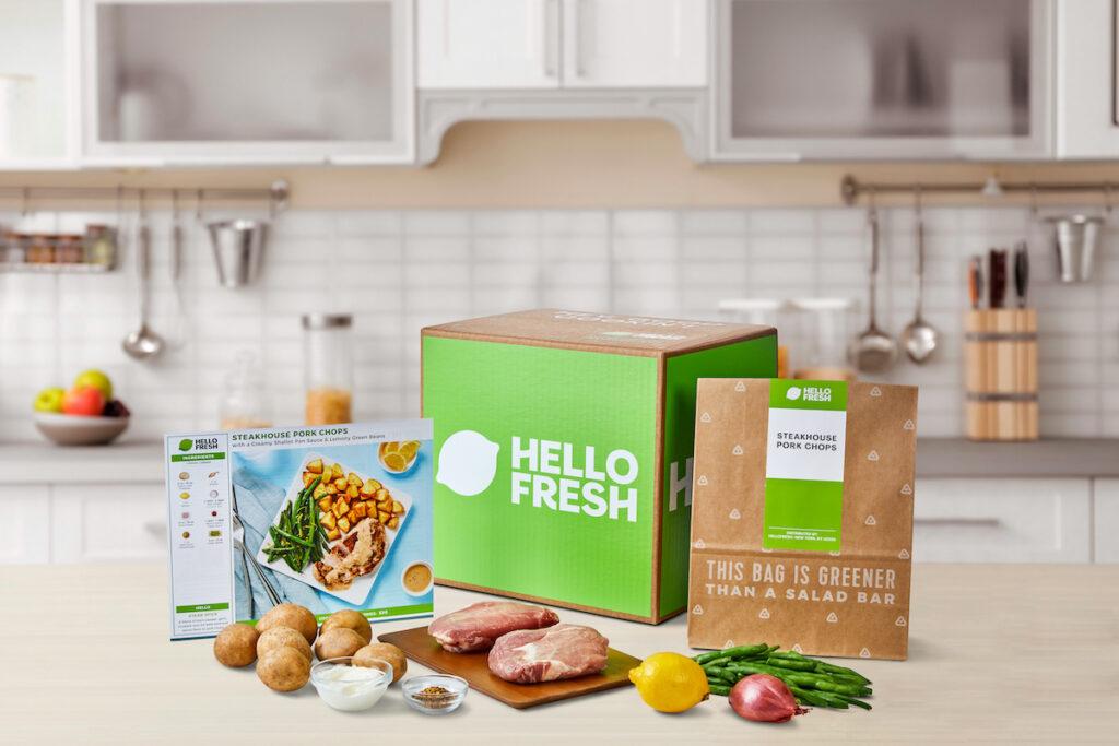 HelloFresh box and food