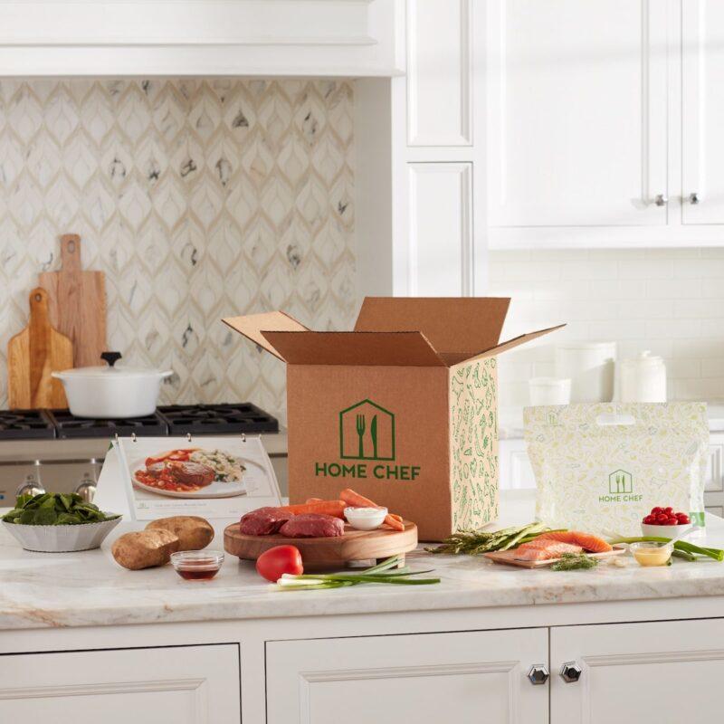 Home Chef box and food