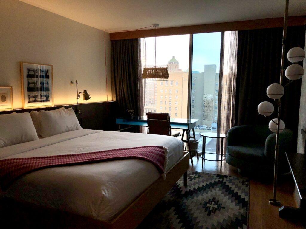A room at Hotel Indigo El Paso Downtown, Texas.